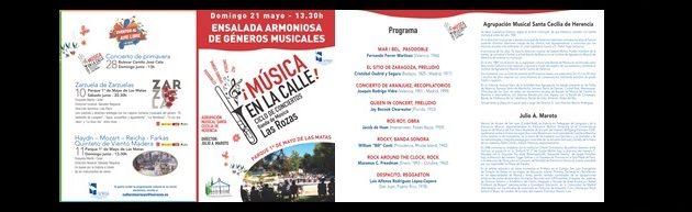 Concierto en Las Matas-Las Rozas de Madrid por la Agrupación Musical Sta. Cecilia de Herencia