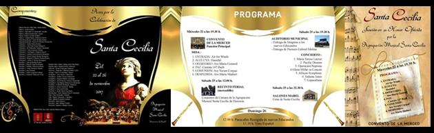 Programación de Actos por Santa Cecilia. Agrupación Musical Santa Cecilia