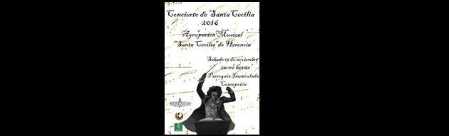 Concierto de Sta. Cecilia de la Agrupación Musical Sta. Cecilia de Herencia 2016