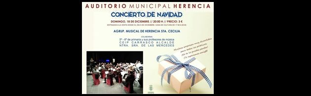 Concierto de Navidad de la Agrupación Musical Sta. Cecilia de Herencia 2016