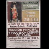 Procesión Sta. Lucía acompañada por la Agrupación Musical.